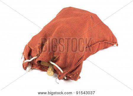 Red Sack On White Background
