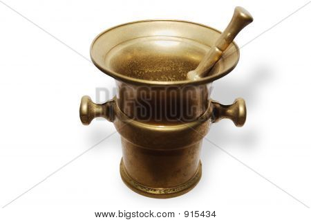 Brass Pharmacy Mortar