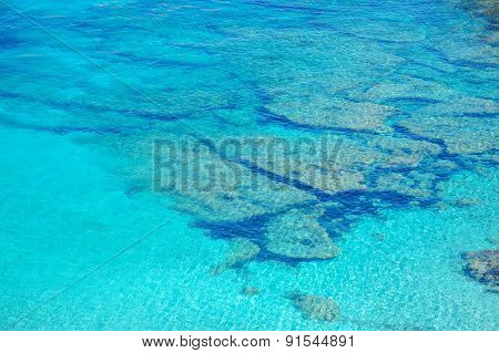 Crystal Clear Water In Capo Testa
