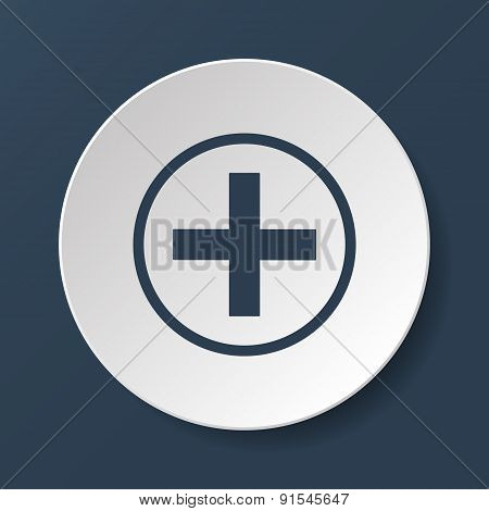 Medical Sign In Glossy Button Vector