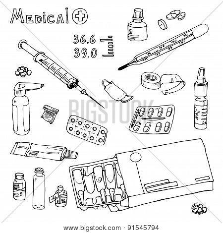vector Illustration  medical