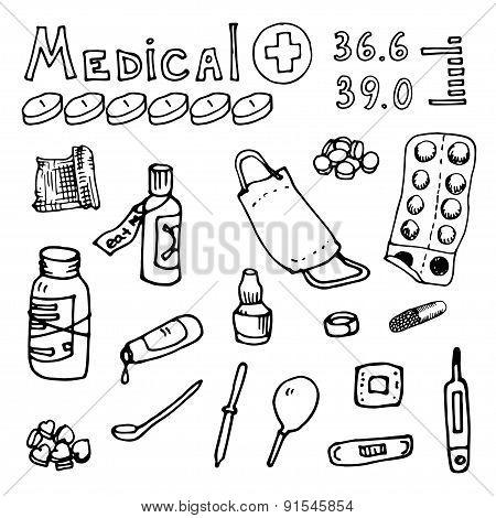vector Illustration  medical topics