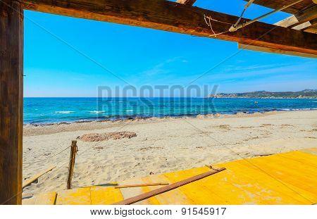 Wooden Roofing In Rena Majore Beach,