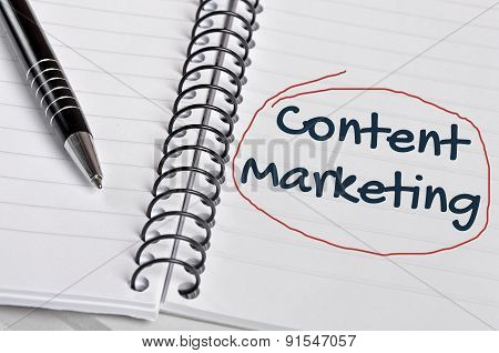 Content Marketing Word