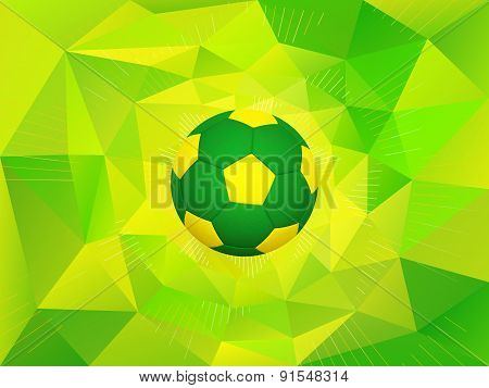 Brazil Soccer Ball Background
