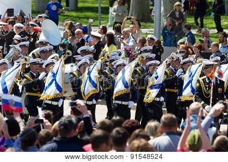 Sevastopol / Crimea - May 9, 2Sevastopol / Crimea - May 9, 2015: Parade In Honor Of The 70Th Anniver