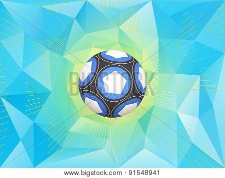 Argentina Soccer Ball Background