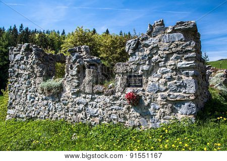 Ruins Of House At Bully, Slovakia