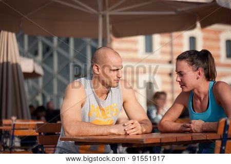 Fit young couple