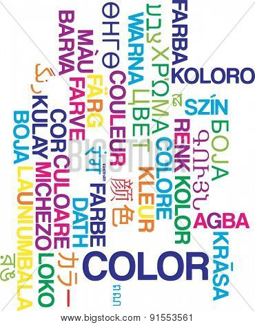 Background concept wordcloud multilanguage international many language illustration of color