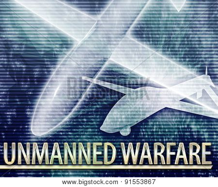 Abstract background digital collage concept illustration unmanned warfare drone
