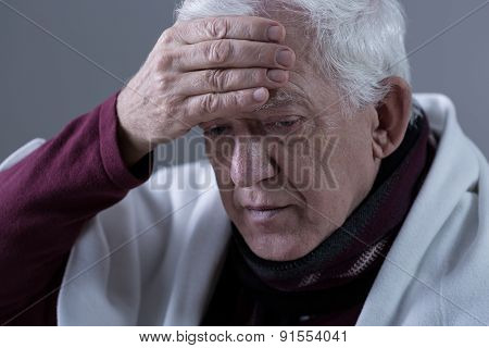 Elderly Man With Fever