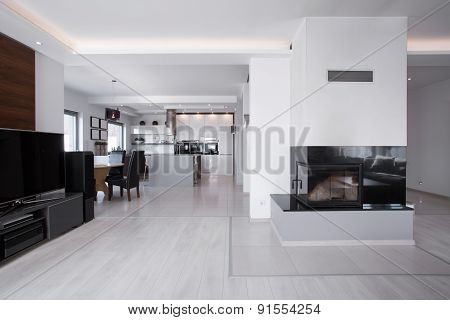 Space With Fireplace