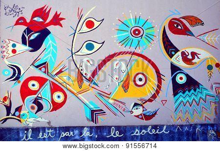 Street art amerindians