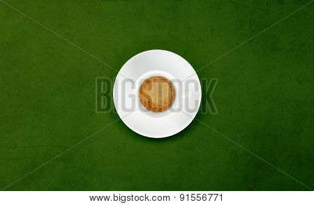 Cup Of Coffee On green Marble Table
