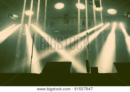 Stage lights - retro style photograph
