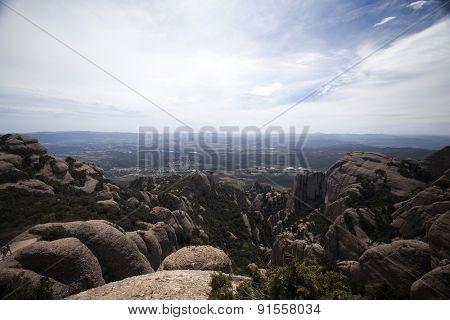 Montserrat mountains, Barcelona, Spain.