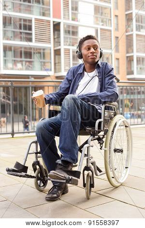 young wheelchair boy