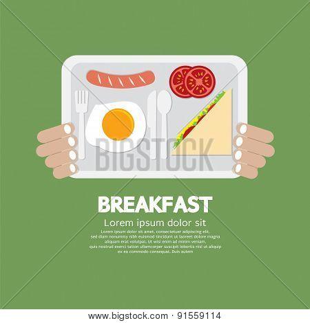 Breakfast Tray In Hand.