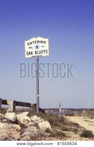 Oak Bluffs sign, Martha's Vineyard