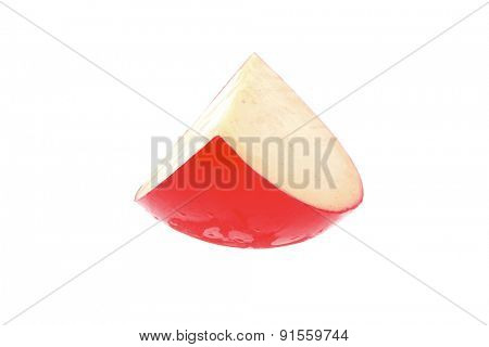 image of yellow cheese on white background