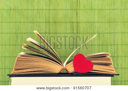 The Opened Book And Heart