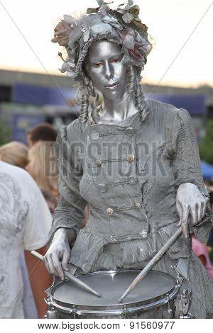 Asheville Living Statue Perormance Artist