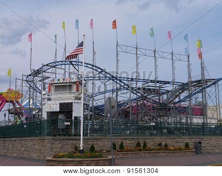 Jenkinsons Boardwalk at Point Pleasant Beach at Jersey Shore in New Jersey