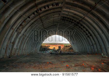 An abandoned hangar