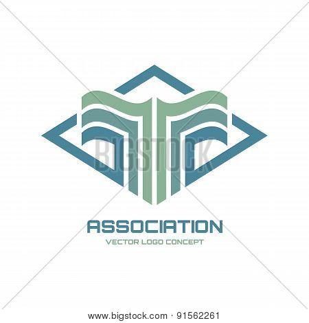 Association - vector logo concept illustration for business company.
