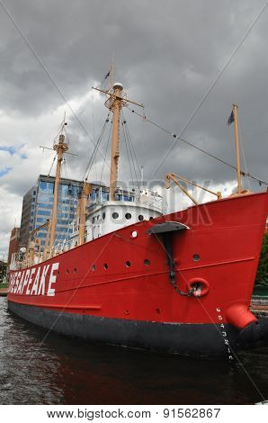 United States lightship Chesapeake (LV-116) in Baltimore