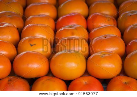 Fresh Yellow Persimmons