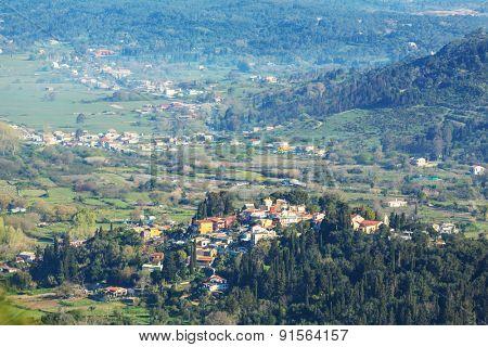 Village on Corfu island
