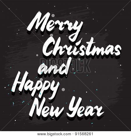 Merry Christmas Lettering Card