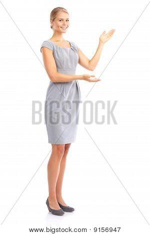 Apresentando a mulher de negócios