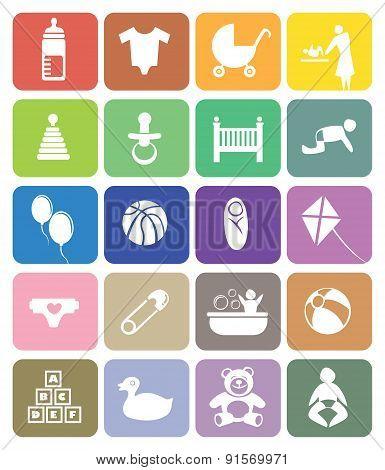 Baby Theme Vector Icon Set