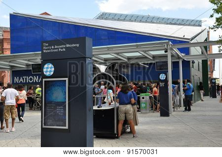 The National Aquarium at the Inner Harbor in Baltimore, Maryland
