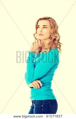 Portrait of an attractive fashionable young woman.