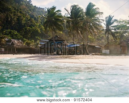 Landscape Of Tropical Island