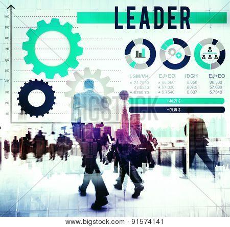Leader Leadership Management Director Coach Concept