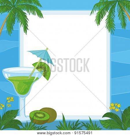 Juice, Kiwi Fruit and Exotic Background