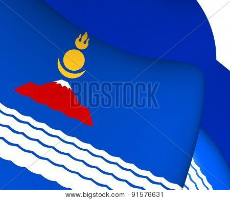 Flag Of Uvs Province, Mongolia.