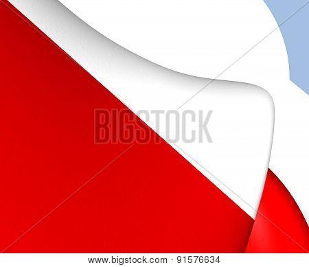 Flag Of Utrecht City, Netherlands.