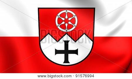 Flag Of Main-tauber-kreis, Germany.