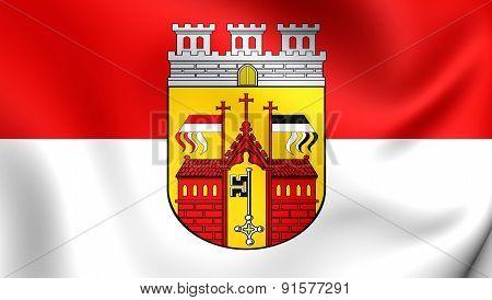 Flag Of Herford, Germany.