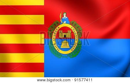 Flag Of Elche, Spain.