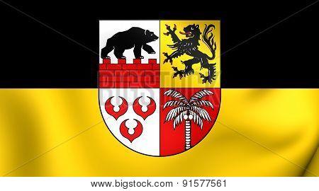 Flag Of Anhalt-bitterfeld, Germany.
