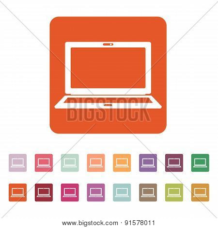 The Laptop Icon. Notebook Symbol.