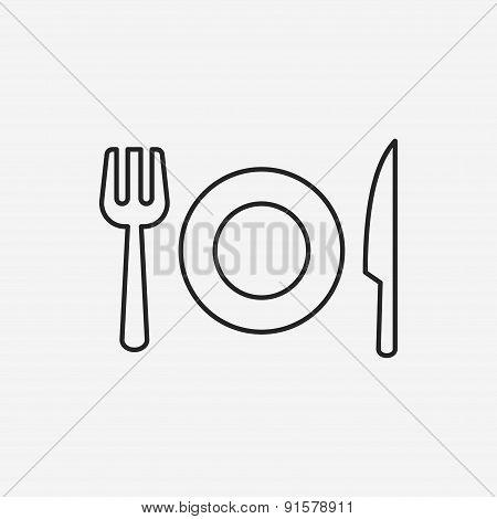 Tableware Line Icon