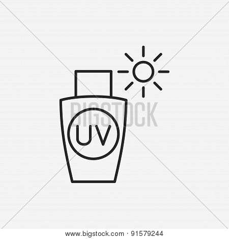Sunscreen Line Icon